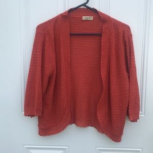 One World 3/4th sleeve sweater, size XL